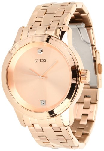 GUESS Men's U0103G2 Round Diamond Watch