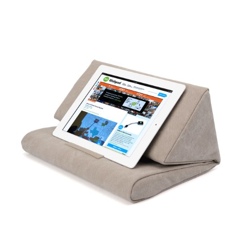 IPEVO PadPillow Pillow Stand for iPad mini, iPad Air, iPad 4, iPad 3, iPad 2, iPad 1, Nexus and Galaxy – Light Khaki