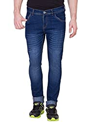 Aeroglide Navy Blue Washed Low rise Slim fit Jeans (30)