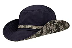 Home Prefer Camo Vintage Sun Hat UV Protective Cap for Men's War Game, Sports, Fishing Outdoor Activities Navy Blue
