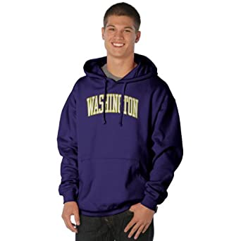 NCAA Washington Huskies Peerless Nuvola Cotton Sueded Hooded Sweatshirt by Ouray Sportswear