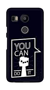 Amez You can Do It! Back Cover For LG Nexus 5x