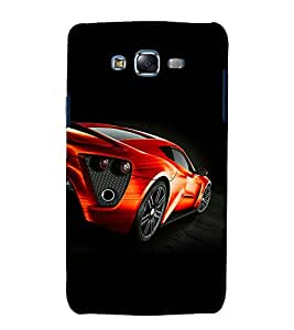 printtech Superfast Car Back Case Cover for Samsung Galaxy E5 / Samsung Galaxy E5 E500F