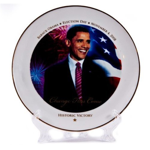 As Seen on TV 10-inch Barack Obama Historic Victory Ceramic Commemorative Plate