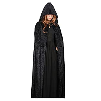 Halloween Costume Adult Child Cloak Female Vampire Witch Cosplay Masquerade Death