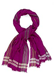 Per Una Metallic Striped Scarf