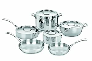 Cuisinart FCT-10 French Classic Tri-Ply Stainless 10-Piece