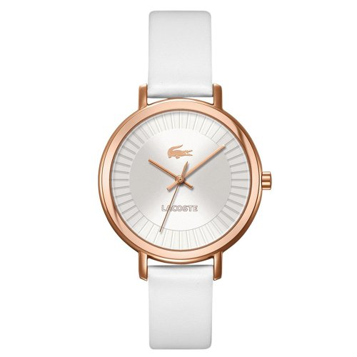 Lacoset Women's 'Nice' White and Rose Gold Watch - 2000715