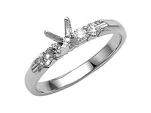 Karina B Round Diamonds Engagement Ring Platinum 950 Size 8