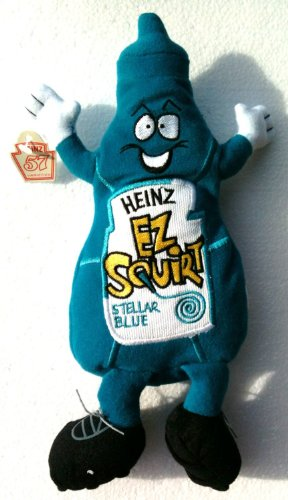 heinz-ketchup-advertising-plush-embroidered-ez-squirt-beanie-baby-stellar-blue-9-tall
