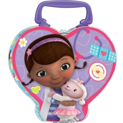 Disney Doc McStuffins Heart Shaped Metal Lunch Box