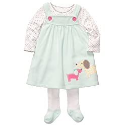 Carters 3-Piece Puppy Play Dress Set For Girls by Carters