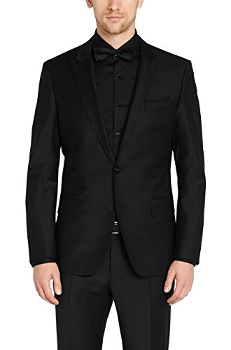 MENJESTIC Men's Slim Fit Blazer AB_40_Black_Large