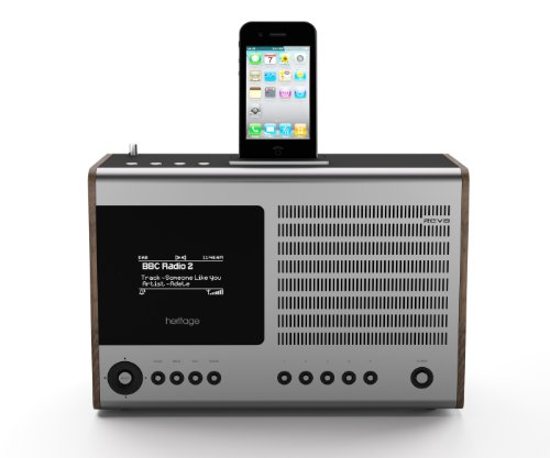 Revo Heritage G2 Deluxe Multi Format Table Radio with Docking for iPod and iPhone - Walnut