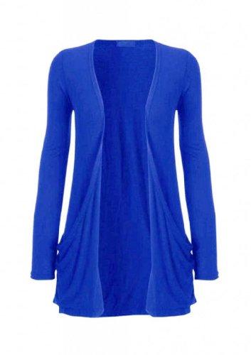Funky Boutique Women'S Plus Size Pocket Long Sleeve Cardigan Electric Blue 20-22 Xxl