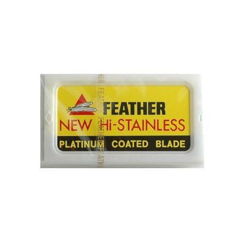 Feather Hi Stainless Platimum Double Edge Razor Blades 50 Ct