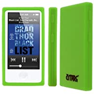 Flexible Silicone Skin Neon Green Case for Apple iPod Nano 7Gen 7th Gen