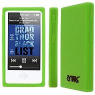 Flexible Silicone Skin Neon Green Case for Apple iPod Nano 7Gen 7th Gen