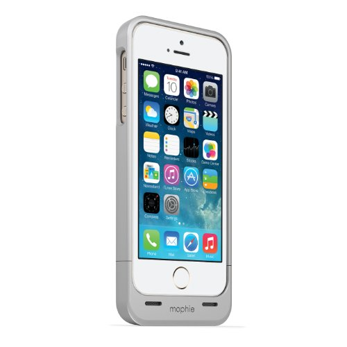 日本正規代理店品mophie juice pack helium for iPhone 5s/5 シルバーメタリック MOP-PH-000028