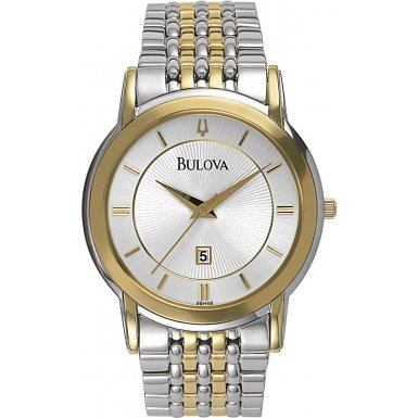 Bulova 98H48 Mens Dress Steel Gold Watch