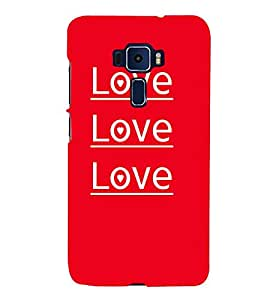 Love Love Quotes Cute Fashion 3D Hard Polycarbonate Designer Back Case Cover for Asus Zenfone 3 Deluxe ZS570KL (5.7 Inches)