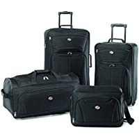 American Tourister Fieldbrook II 4-Piece Nested Luggage Set (Black)