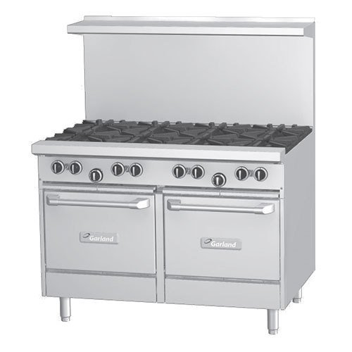 """Natural Gas Garland G48 4G24Ss 4 Burner 48"""" Gas Range With 24"""" Griddle And 2 Storage Bases"""