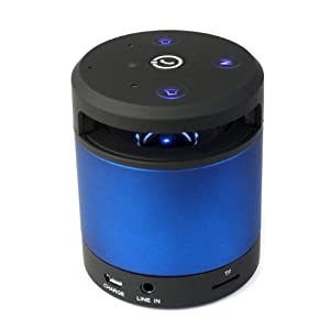 amtonseeshop Infrared Bluetooth Stereo Subwoofer Speaker for Cell Phone Tablet Pc Laptop(non-waterproof blue) by amtonseeshop