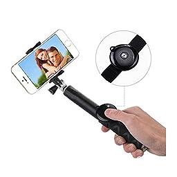 Bluetooth Selfie Stick, Huijukon Extendable Multi-function Handheld Selfie Self Self-portrait Monopod with Adjustable Phone Holder + Bluetooth Remote Shutter for Samsung Galaxy S6 S6 Edge Apple iPhone 6 6 Plus 5S 5