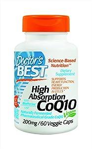 Doctor's Best, Absorption élevée CoQ10, 200 mg, 60 Capsules Végétales
