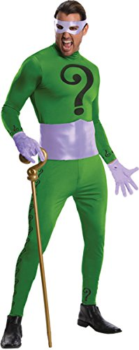 Morris Costumes Men's The Riddler Grand Heritage Costume, one size