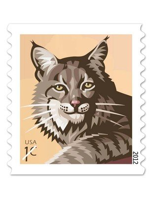 Bobcat roll of 3000 Stamps, 1 (One) cent U.S. Postage Stamps NEW
