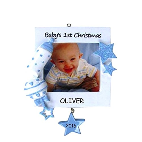 Personalized Super Star Baby's First Christmas Ornament - Boy