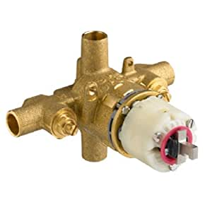 American Standard R120SS20SS Pressure Balance Rough Valve Body Only Direct Sweat Inlets and Outlets with Screwdriver Stops