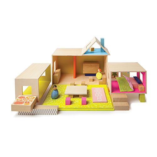 2016 Hot Toy List: Rated Kid-Tested and Parent-Approved (Parents Magazine / Amazon) Manhattan Toy 213490 MiO Playing Eating Sleeping Working + 2 People Modular Building Set Playset