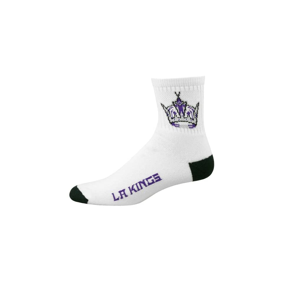 Los Angeles Kings White Team Logo Quarter Length Socks