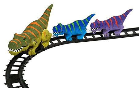 Train Set T-Rex Dinosaur Motorized 9 Piece