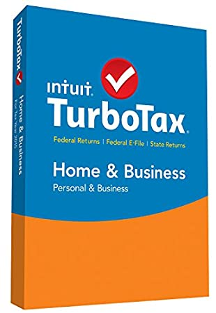 TurboTax Home & Business 2015 Federal + State Taxes + Fed Efile Tax Preparation Software - PC/Mac Disc