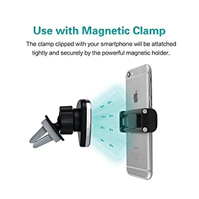 Car Mount, BaiJi Universal 360 Degree Magnetic Air Vent Phone Stand Holder, Car Accessories for iPhone 6s Plus 6 5s SE Android Samsung Galaxy S7 S6 Edge S5 Note 5 4 LG G5, Google Nexus 5X 6 and More