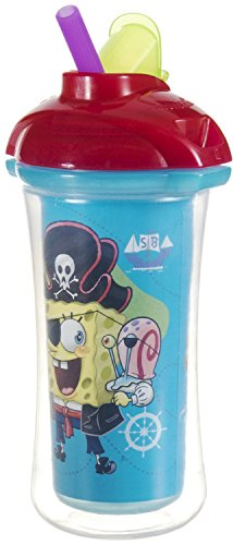 Munchkin Spongebob Squarepants Click Lock Insulated Sippy Cup - 9Oz (Blue) front-1002843