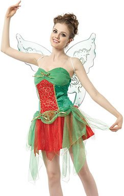 Ladies Womens Sexy Christmas Fairy Fancy Dress Costume