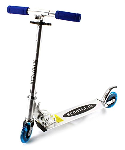 VT-ScootGear-Childrens-Kids-Two-Wheeled-Metal-Frame-Toy-Kick-Scooter-w-Adjustable-Handlebar-Height-Light-Up-Wheels-Blue