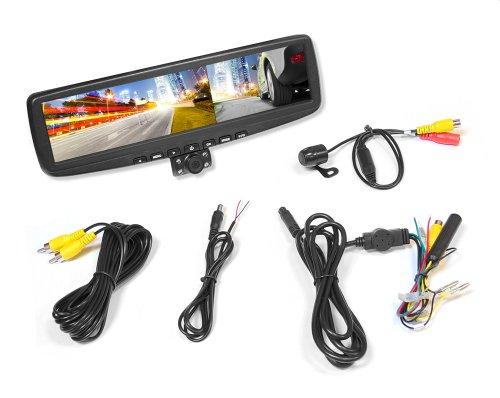 HD DVR Rückspiegel Image-und Video-Aufnahmekamera Parking Assist System mit (2) Nachtsicht-Kamera