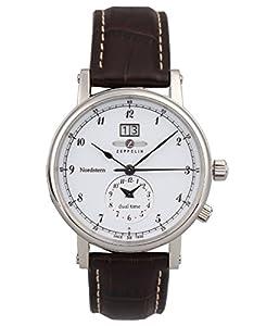 Zeppelin Watches Herren-Armbanduhr XL Analog Quarz Leder 7540-1