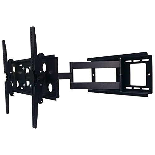 2xhome - NEW TV Wall Mount Bracket (Single Arm) Secure Cantilever LED LCD Plasma Smart 3D WiFi Flat Panel Screen Monitor Moniter Display Large Displays - Long Swing Out Single Arm Extending Extendible Adjusting Adjustable - Full Motion 15 degree degrees Tilt Tilting Tiltable Swivel Articulating Heavy Duty Strong Durable Support - Mounted Mounting Home Entertainment Media Center Multimedia Furniture Family Living Room Game Gaming - Management Designer Organization Space Saver System HDTV HDMI HD Video Accessories Audio Video AV Component DVR DVD Bluray Players Cable Boxes Consoles Satellite XBox PS3 - Compatible VESA 100mm x 100mm, 200mm x 200mm, 400mm x 400mm , 600mm x 400mm, 700mm x 450mm, 718mm x 450mm, 720mm (W) x 470mm(H) - Universal Fit for LG Electronics Samsung Vizio Sharp TCL Toshiba Seiki Sony Sansui Sanyo Philips RCA Magnavox Panasonic JVC Insignia Hitachi Emerson Element SunBrite SunBright 45