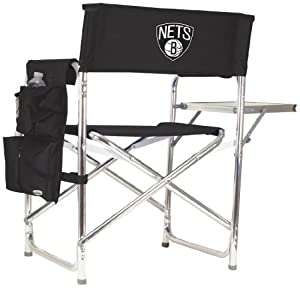 NBA Brooklyn Nets Portable Folding Sports Chair by Picnic Time