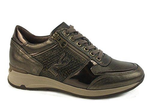 NERO GIARDINI Sneaker lacci cerniere PELLE OLD IRON FUCILE A616053 38