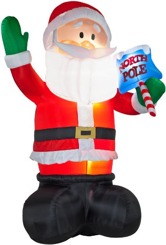 Outdoor santa inflatables christmas decorating fun