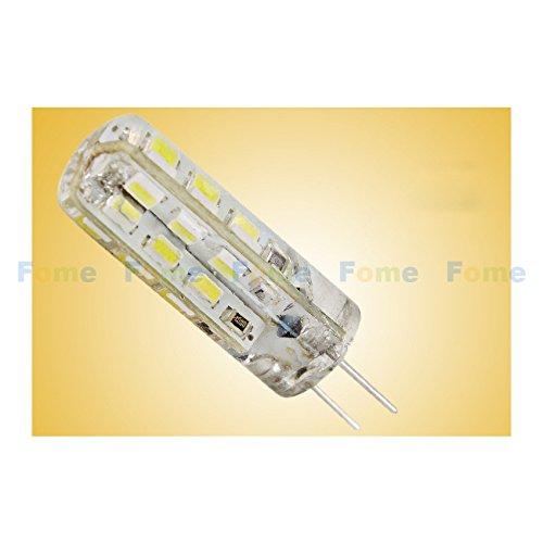 Fome 5 Pcs 360 Degree Lighting High Quality Epoxy Resin Glue Silicon Glue Led Bulb Lights Ac Dc 12V 1.5W G4 Led Lamp Replace Halogen Lamp Bead- White G4-2430G + Fome Gift