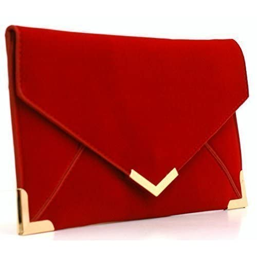Womens Ladies Girls Designer Inspired Faux Leather Envelope Flat Wallet Style Dressy Occasion Party Clutch Bags...